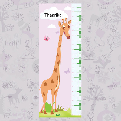 Long Giraffe Height Chart